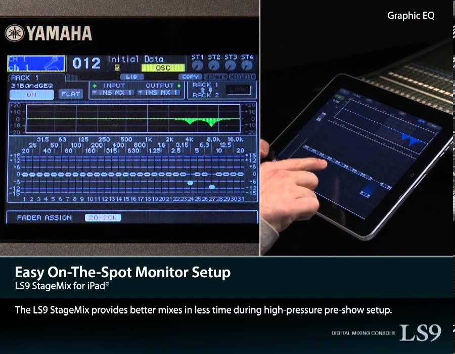 ls9 stagemix for ipad youtube rh youtube com Pm Yamaha 15D yamaha ls9 stagemix setup