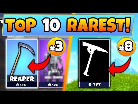 Fortnite Skins: TOP 10 RAREST PICKAXE SKINS! – #1 Is CRAZY! (Battle Royale Item Shop Compilation)