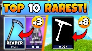 Fortnite Skins: TOP 10 RAREST PICKAXE SKINS! – #1 is CRAZY! (Battle Royale Item Shop Compilation)