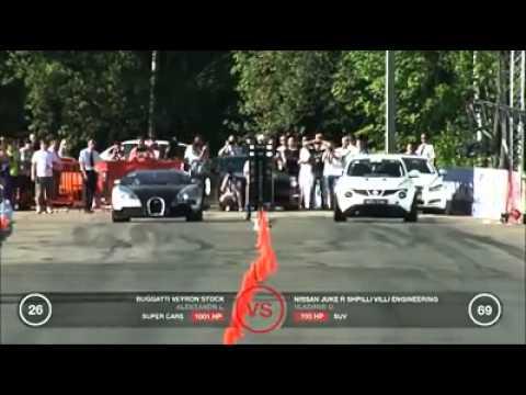 เมื่อ bugatti ปะทะกับ Nissan Juke R