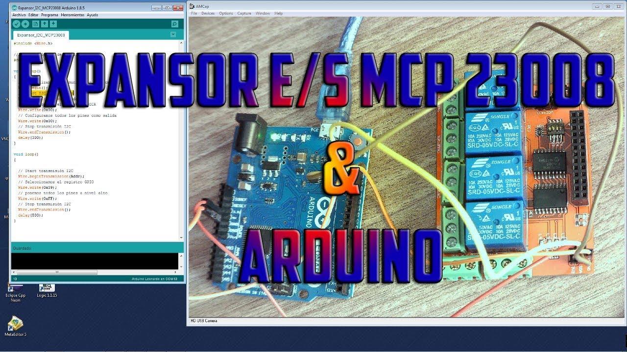 Expansor E/S I2C MCP23008 con arduino