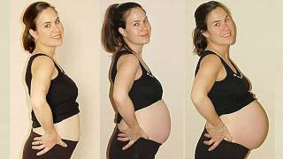 9 Months of Pregnancy in Under 2 Minutes (Time Lapse)