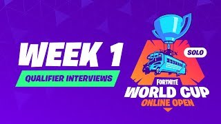 Fortnite World Cup - Week 1 Qualifier Interviews