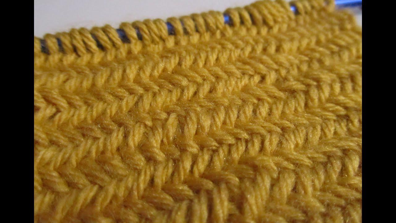 Knit Herringbone Pattern : How to Knit the Herringbone Stitch Doovi