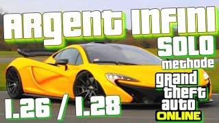GLITCH Patché : ARGENT INFINI - SOLO - GTA 5 Online 1.26 / 1.28 ( Compatible crime paie part 2 )