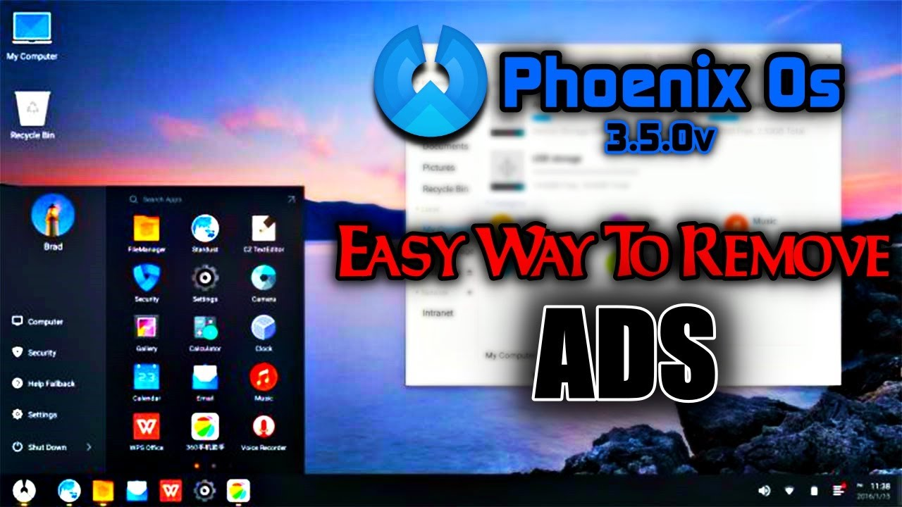 How To Remove Ads in Phoenix OS | Phoenix OS 3 5 0 v | Latest Version |  Free VIP Phoenix OS | 2019