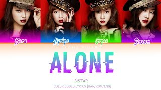 SISTAR (씨스타) – Alone (나혼자) (COLOR CODED LYRICS [HAN/ROM/ENG]…
