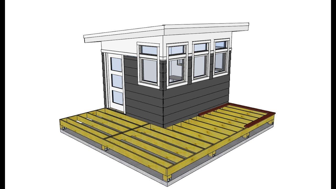 Clinton's Backyard Studio - Ep 10 - Adding a Deck ... on Sketchup Backyard id=49644