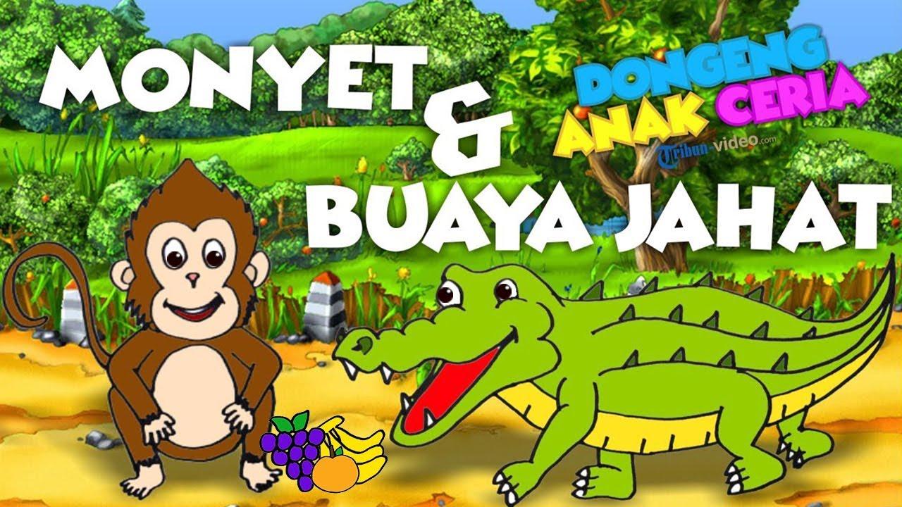 Gambar Monyet Dan Anaknya Animasi Dongeng Anak Ceria Kisah Monyet Dan Buaya Jahat Youtube