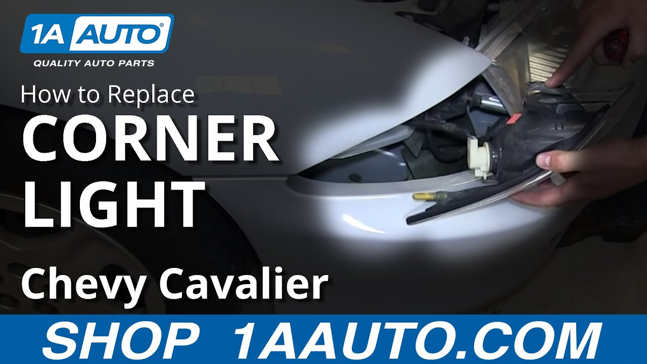 How to Replace Corner Light 00-03 Chevy Cavalier - YouTube  Chevy Cavalier Ke Light Wiring Diagram on