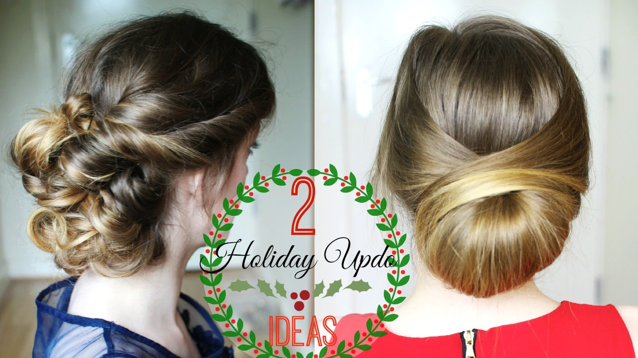 Two Simple Holiday Updo Ideas Christmas Ideas Braidsandstyles12