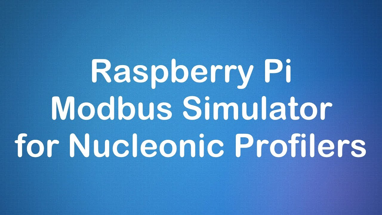 Raspberry Pi Modbus Simulator for Nucleonic Profilers
