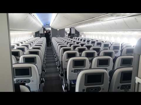 On board British Airways Boeing 787-9 Dreamliner