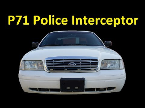 P71 Police Interceptor Crown Victoria Car Low Miles For Sale