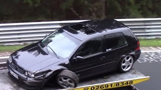 Crashes, Spins & Action Nürburgring  Nordschleife Touristenfahrten 01.05.2016