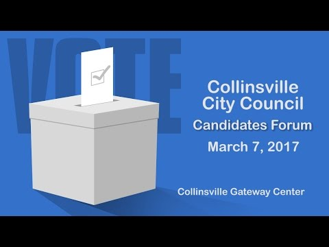 Collinsville IL City Council Candidate Forum March 7 2017