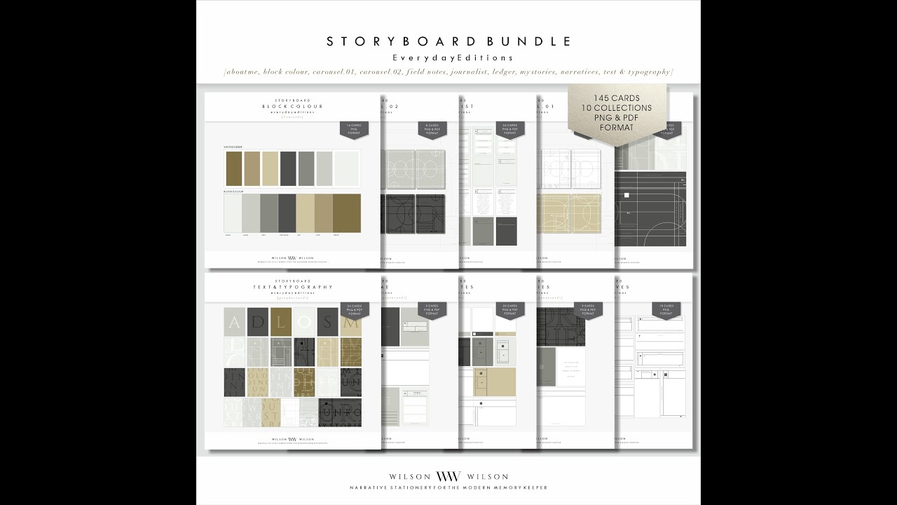 Everyday Editions: Storyboard Collection, Unveiled
