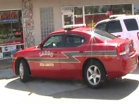 CITY OF LARGO BOUGHT THE FIRE CHIEF A DODGE CHARGER TAKE HOME FIRE CHEIF  CALLS