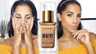 Video First Impression: NEW Covergirl Vitalist Healthy Elixir | BEST DRUGSTORE FOUNDATION EVER download MP3, 3GP, MP4, WEBM, AVI, FLV Januari 2018