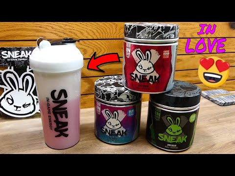 NEW Gaming Energy Drink! [SNEAK ENERGY] - Review/Taste Testing all Tubs