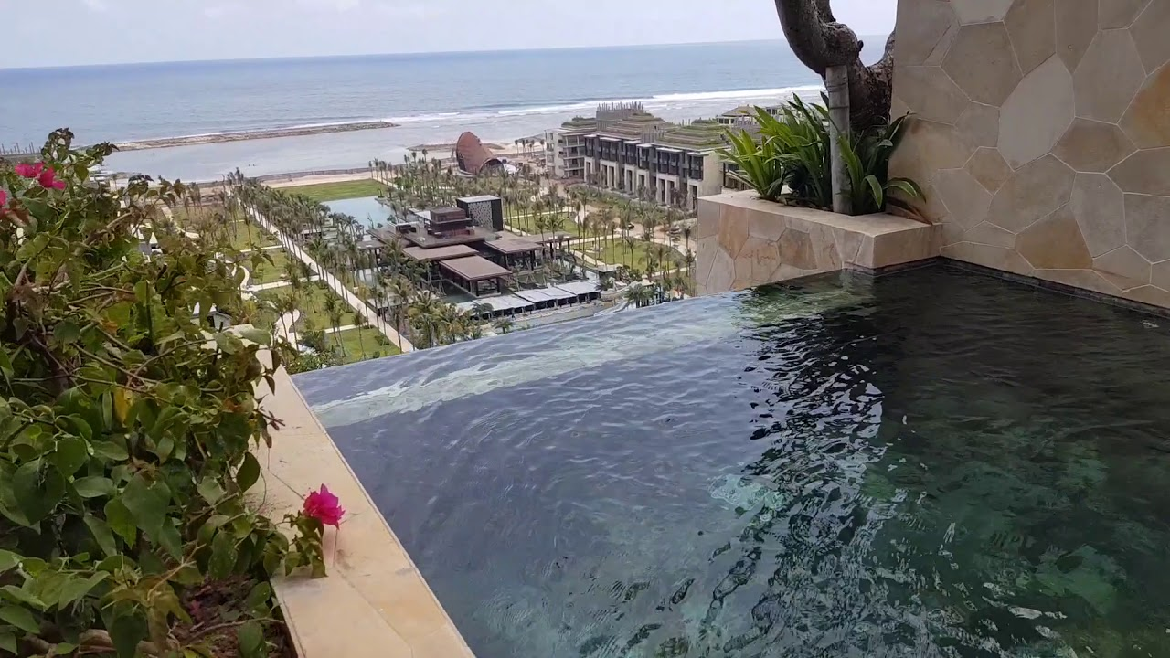 Kempinski Bali Cliff Pool Ocean Suite Youtube