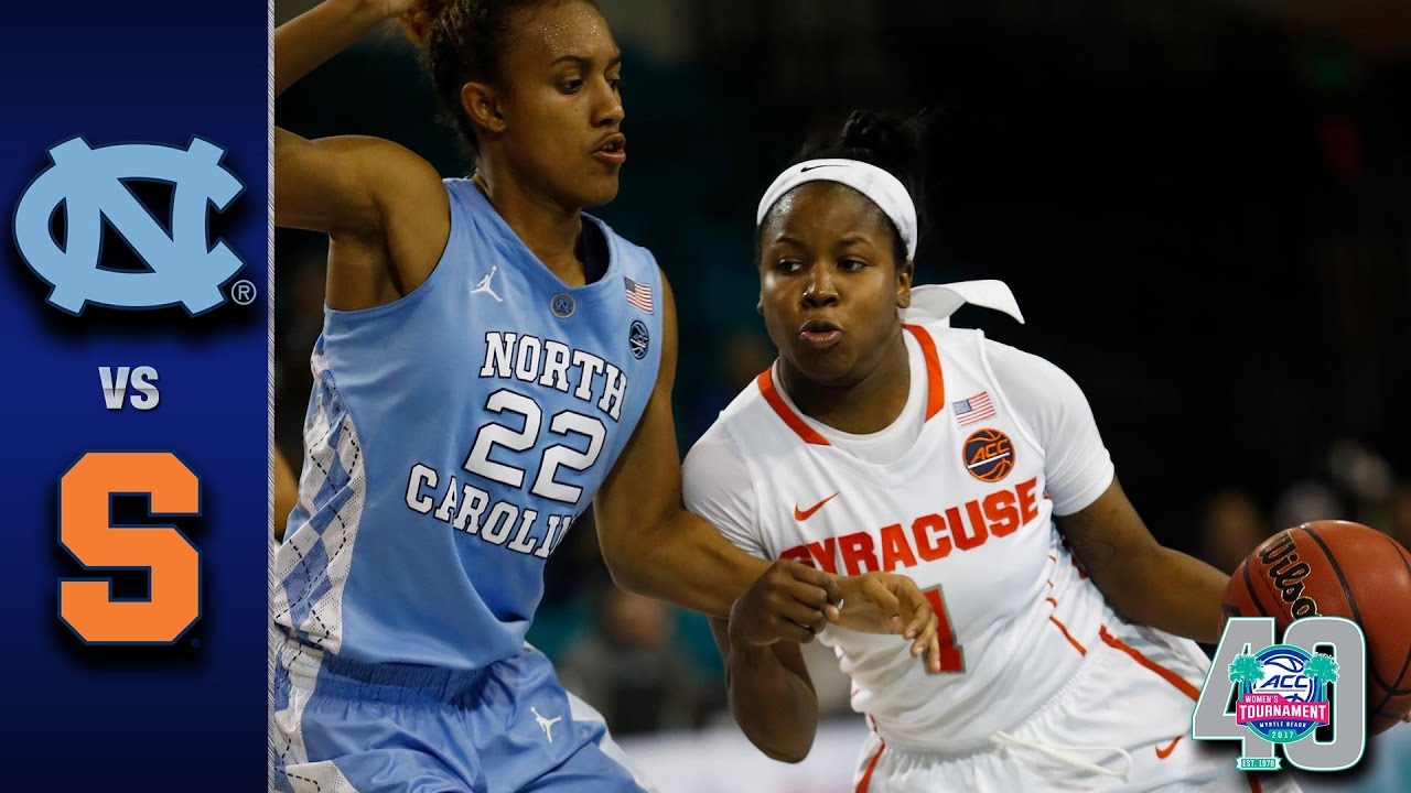 North Carolina vs. Syracuse 2017 ACC Women\u0027s Tournament Highlights ...