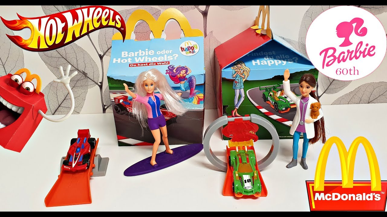 2019 Mcdonald S Happy Meal Toys Mattel Barbie Hot Wheels