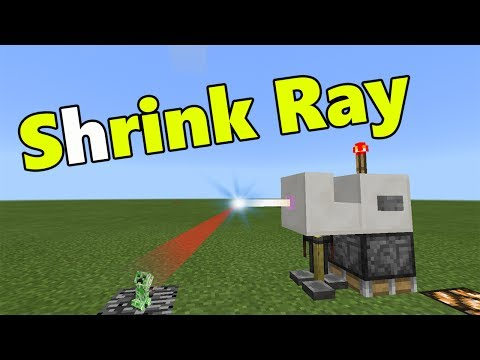 SHRINK RAY MACHINE TUTORIAL | No Mods ??? | Minecraft PE (Pocket Edition) Mini Mobs Addon