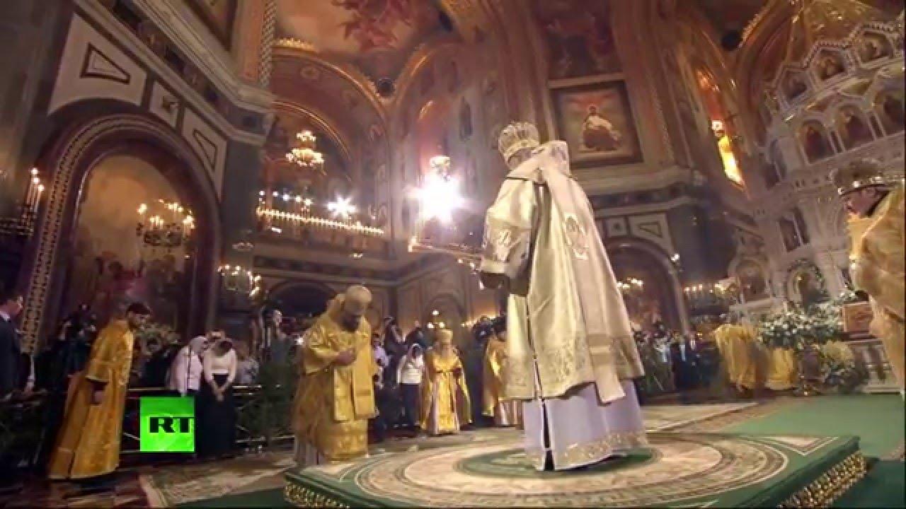 Патриаршее богослужение в Храме Христа Спасителя в честь Рождества Христова (2016)