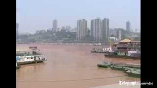 Yangtze river turns red in China