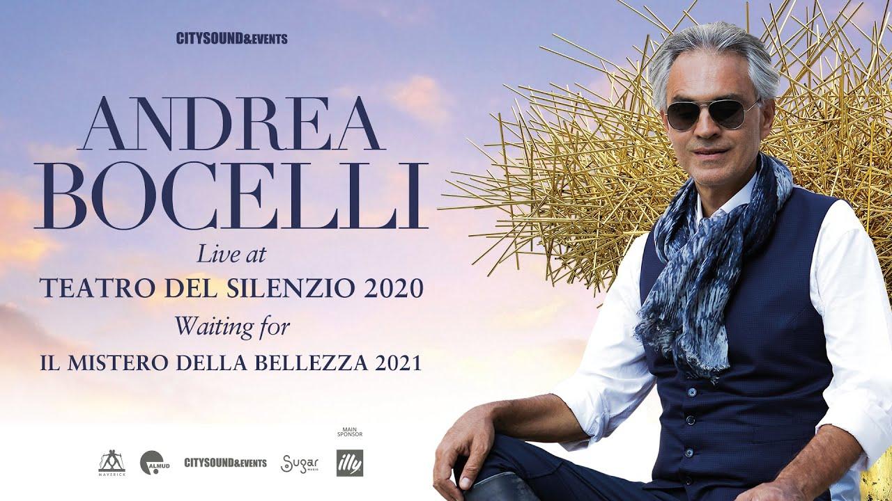 """Andrea Bocelli - live at Teatro del Silenzio 2020 (waiting for """"Il mistero della bellezza 2021"""")"""