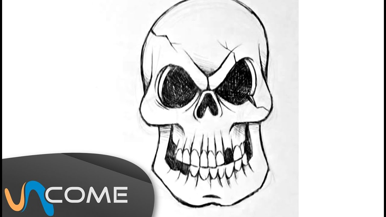 Top Come disegnare un teschio per Halloween - YouTube ZE65