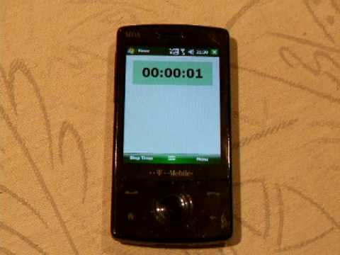 Simple Timer Application with Windows Mobile 6 Professional SDK