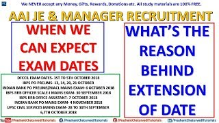 WHEN WE CAN EXPECT #AAI JUNIOR EXECUTIVE & MANAGER EXAM DATES