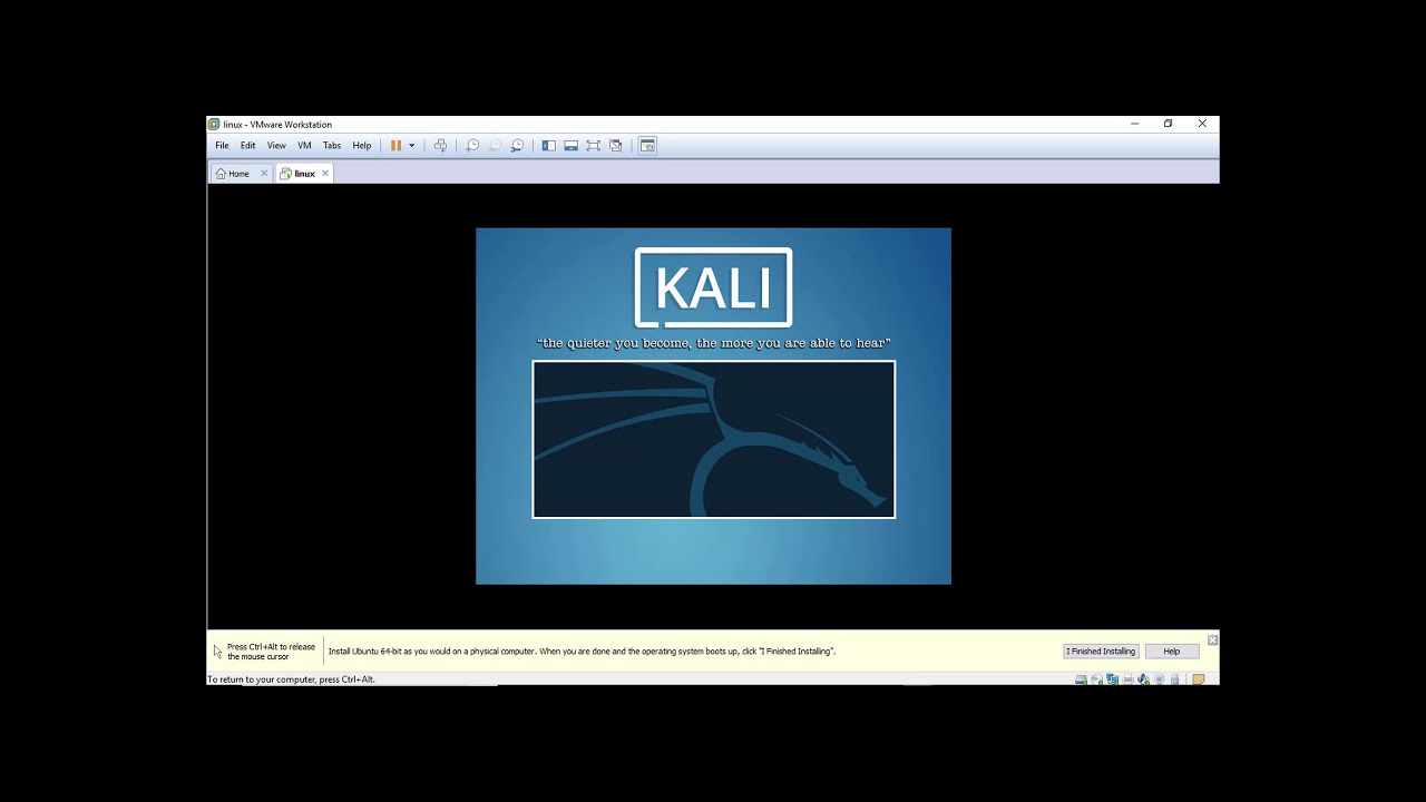 HOW TO INSTALL KALI LINUX IN VIRTUAL MACHINE