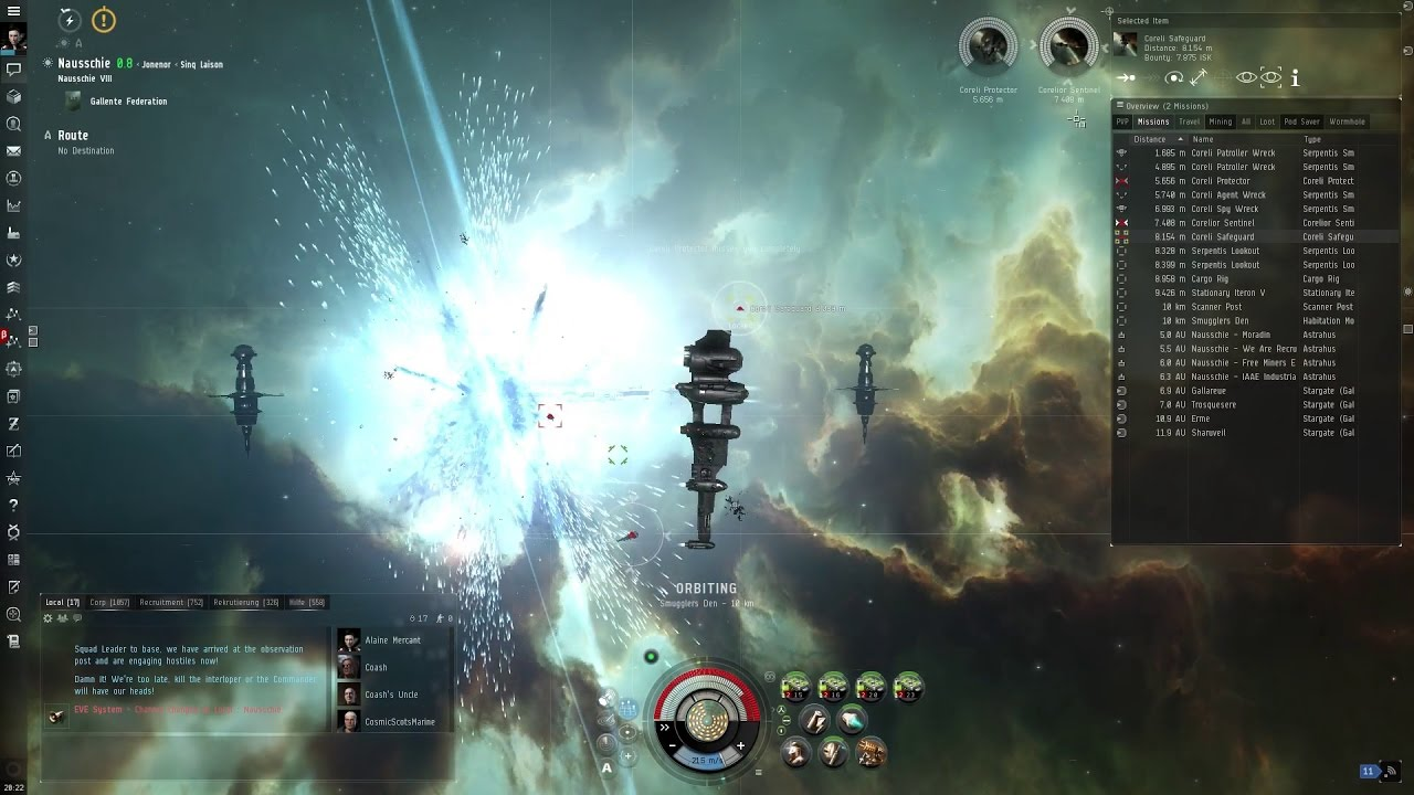 Casuality spielt: EVE Online #17 - Kampf in Combat Sites - Anomalien