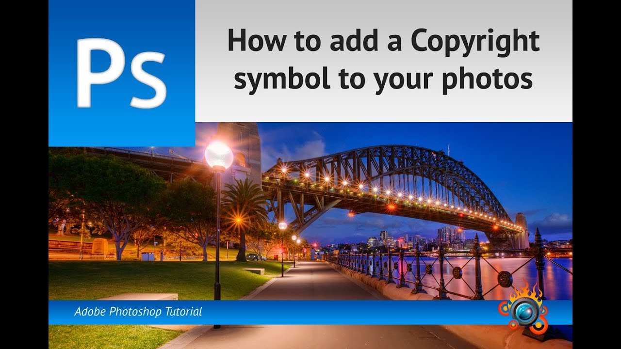How To Add A Copyright Symbol To Your Photos Youtube