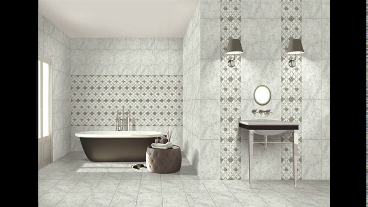 Kajaria bathroom tiles design in india - YouTube