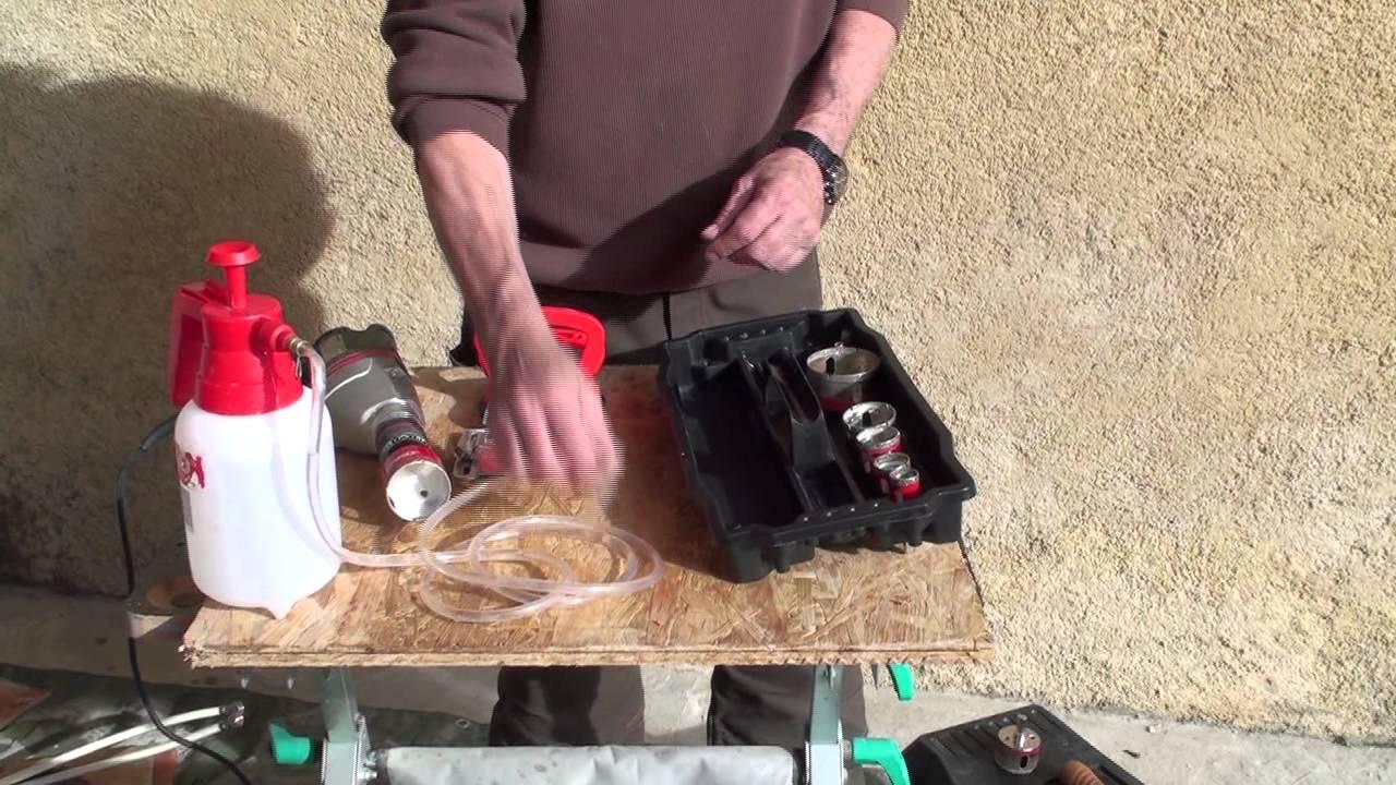 Nice Percer Un Gros Trou Dans Du Carrelage   Bricolage Avec Robert   YouTube