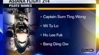 "Pranked TV Station Reports ""Ho Lee Fuk,"" ""Wi Tu Lo"" As SF Crash Pilots"