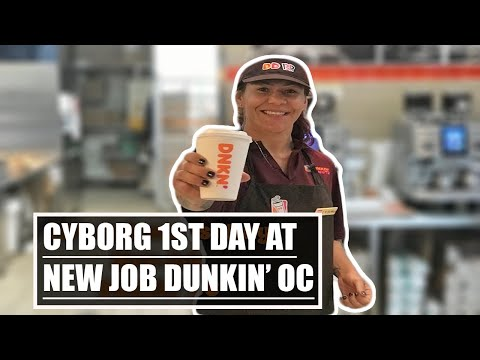 Cris Cyborg working at Dunkin' Donuts 1st day at new job