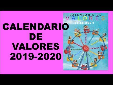 Calendario Belen 2020.Soy Docente Calendario De Valores 2019 2020 Youtube
