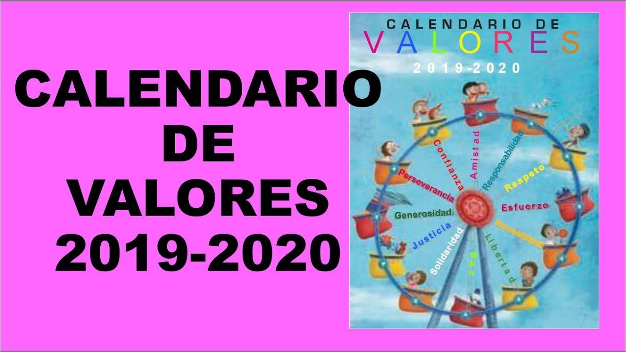 Calendario Belen 2020.Soy Docente Calendario De Valores 2019 2020