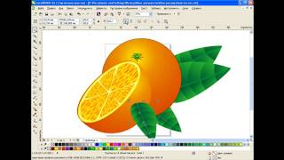 How to draw an orange in Corel Draw
