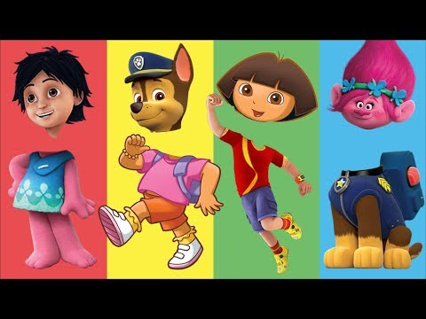 Wrong Heads Dora the Explorer Trolls Paw Patrol Finger Family Nursery Rhymes for Kids and Toddlers