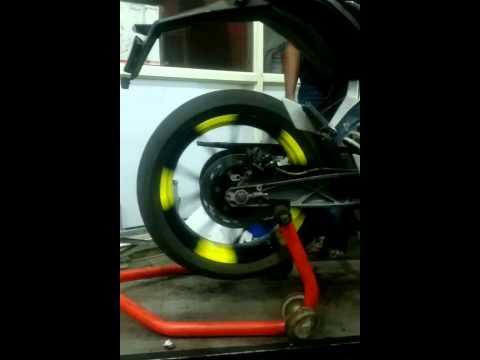 KTM duke alloy wheel cutom paint job in Bangalore