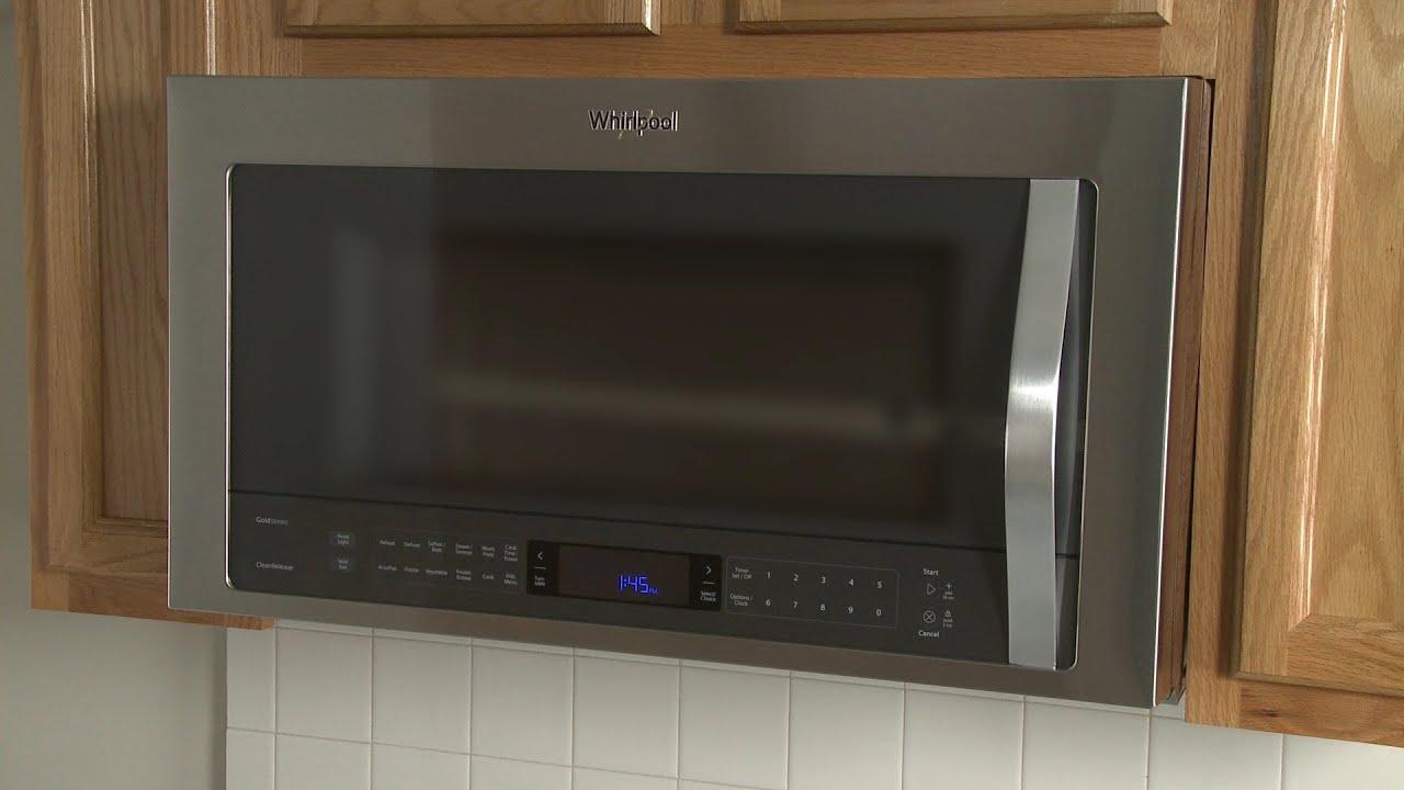 whirlpool over the range microwave installation model wmh73521cs