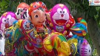 Drum Band Balonku Ada Lima - Mainan Anak-anak Balon Karakter Pokemon, Masha, Boboiboy, Upin Ipin