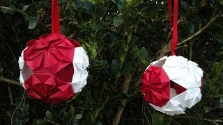 HD / TUTO : Faire une boule de Noël en origami - Make an origami Christmas ball