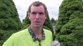 Jan Hernych po výhře v 1. kole na turnaji Futures v Ústí n. O.